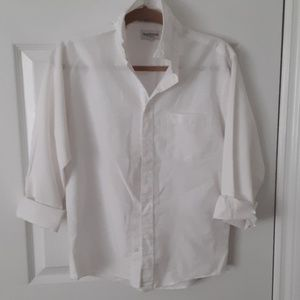 Boy white button down